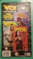 WCW NWO Holographic 3-D Cards GOLDBERG Sting MACHO MAN Wrestling WWE WWF