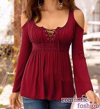 ♥Größe 34-46 Elegantes Oberteil, Shirt, Tunika Schwarz/Rot/Weiß Top+NEU+SOFORT♥
