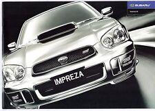 Subaru Impreza III 2003 UK Market Sales Brochure GX Sport WRX STi