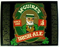 McGuire's  McGUIRE'S IRISH ALE beer label LA 12oz  Var. #2