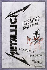"METALLICA LIVE SH*T BINGE & PURGE 2 DVD AND 3 CD BOX SET ""NEW&SEALED"""