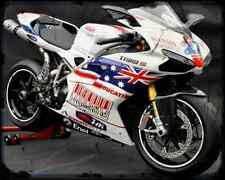 Ducati 1198S Casey Philip Rep A4 Metal Sign Motorbike Vintage Aged