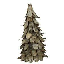 Natural Birch Bark Christmas Tree - 28cm Tall - Unusual Rustic Decoration