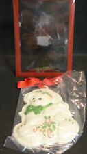 "Lenox Holiday Teddy Bear Cookie Press Ornament 5.75"" x 4.13"" New In Package"