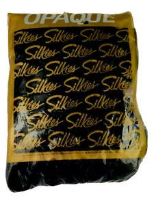 NIP Silkies Opaque Dark Green Pantyhose Nylons Tights  X Queens