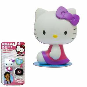 Shoulder Buddies Hello Kitty Collectible Figure  - Pink with Purple Bow Sitting