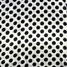 Polka Dot Charmeuse 3 inches Dots Fabric 58 inches width White / Black