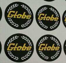 4 set Globe mag wheel centres black and gold stickers bathurst car decals - Aus