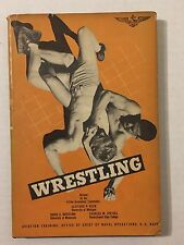 1950 Wrestling Naval Institute Training Manual Book Shirtless Gay Interest 50s