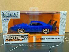 Jada 1969 Dodge Charger Daytona Big Time Muscle 1:32 Blue Die-Cast Metal