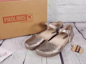 Pikolinos - Leather Quarter Strap Shoes - Vallarta - Stone - EU 36 US 5.5 -6