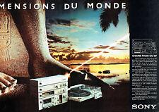 Publicité Advertising 107 1980  Sony (2p)  chaine Folio GG 15F