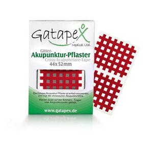 Gatapex Akupunkturpflaster Form: Gitter 40 Stück Rot ( 4,4 cm x 5,2 cm )