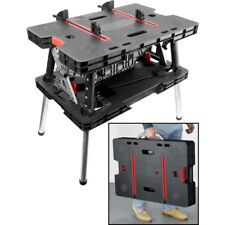 Keter Folding Work Bench Table DIY Portable Tool Adjustable Clamps Master Pro