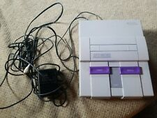 SNES Nintendo SNS-001 Super NES Control Deck Works Console w/AC Adapter & RF Out