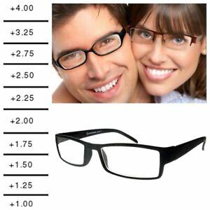 Reading Glasses Eye Strength from 0.00 to 4.00 Unisex Trendy Designer geek