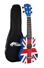Tiger UKE10-UK Union Jack Soprano Ukulele With Bag & Clip on Tuner