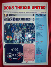MK Dons 4 Manchester United 0 - 2014 Capital One Cup - souvenir print