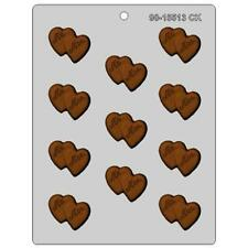 MR. & MRS. DOUBLE HEART BITE SIZE CHOCOLATE CANDY MOLD WEDDING FAVOR CUPCAKE