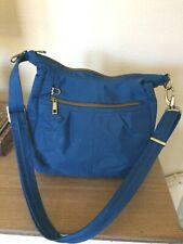 Travelon Dark Blue Shoulder Crossbody Handbag Travel 2 Outer Pockets Top Zip.