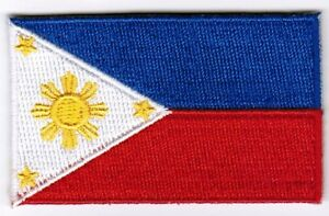Philippines Flag Patch Embroidered Iron On Applique Filipino