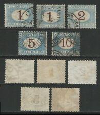 ITALIA Regno 1870 - SEGNATASSE Alti Valori n. 11 / 14 usati - cat. 180 €