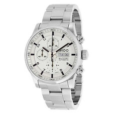 Mido Multifort Automatic Chronograph Silver Dial Stainless Steel Mens Watch