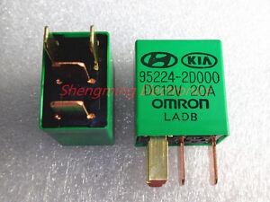 2pcs 12V 4pins 95224-2D000-DC12V 20A Omron Automotive Relay