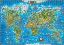 Blue Opal Giant Around the World Giant Map 300 piece Jigsaw Puzzle