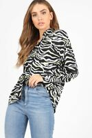 Black/White Neon Zebra Print Shirt With Long Sleeves (RRP £34.99)