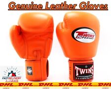 Sparring Boxing Training Genuine Leather Gloves TWINS SPECIAL Muay Thai 8-16 Oz