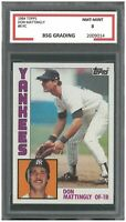 DON MATINGLY 1984 TOPPS #8 ROOKIE ~ BSG 8
