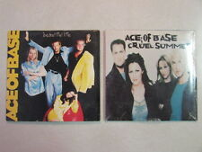 ACE OF BASE 2 CARDBOARD SLEEVE CD SINGLES: CRUEL SUMMER & BEAUTIFUL LIFE REMIX