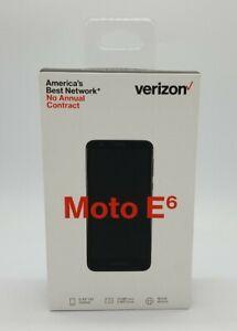 Motorola Moto E6 16GB - Starry Black (Verizon) Smartphone Cell Phone Brand New
