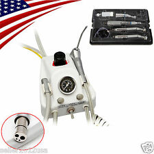 Dental Portable Turbine Unit 4H & High Fast Low Slow Speed Handpiece Kit IN USA+