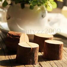 10 Wooden Base Rustic Wedding Table Number Place Name MEMO Card Stand Holder