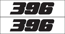 396 Horsepower Decal / Graphic Fits Chevy Corvette Engine