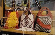 Vintage 1970s Purse Patterns - Craft Book: # Mac800 Macrame by the Bay