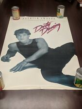 "1987 Dirty Dancing Johnny Castle  poster 23""x35""  movie Patrick Swayze"