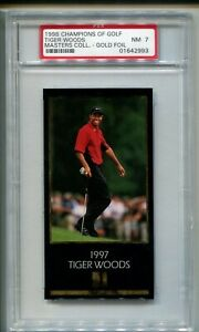 1997-98 TIGER WOODS ROOKIE MASTERS  GOLD FOIL PSA 7