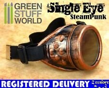 Single Eyed - SteamPunk GOGGLES - COOPER - Welding Gothic Victorian Cosplay