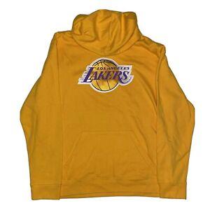 NBA Majestic Los Angeles Lakers Hoodie Twill Logo Yellow Mens XL NWT