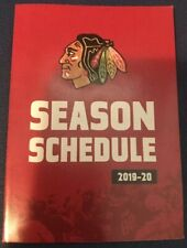2019-2020 CHICAGO BLACKHAWKS POCKET SCHEDULE NHL