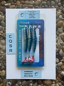 Cornish Quality Sea Rigs KOIKE AWOL EELS Blue Holographic sandeel lures
