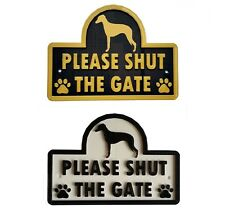 Whippet - Please Shut The Gate - 3D Dog Plaque - House Garden Door Wall Sign