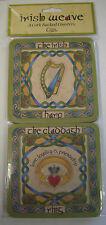 Irlanda 4 SUGHERO sostenuto Sottobicchieri arpa irlandese di Claddagh RING SHAMROCK croce celtica sopra