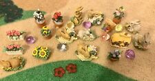 Vintage Russ Enesco nature's wonder bunny figures lot of 18+ With Basket Eggs