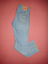 Levi Strauss 501 Leather Patch - Mens Blue Denim Jeans - Waist 33 Leg 32 -X102