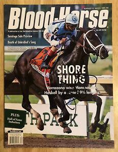 John Velazquez Autographed Blood-Horse, 2013 Magazine,Verrazano Wins Haskell