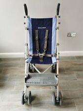 Maclaren Major Elite Special Needs buggy pushchair - blue / grey